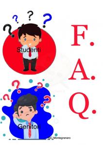 FAQ STUDENTI/GENITORI
